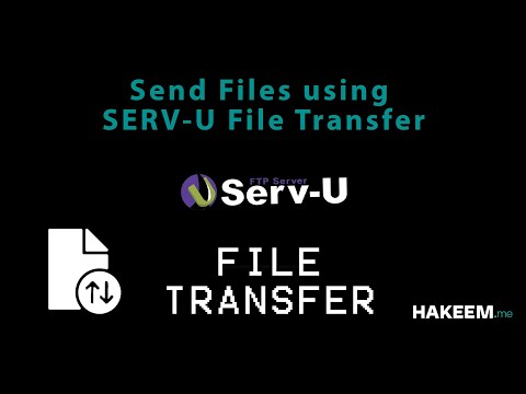 How To Send Files Using SERV-U?