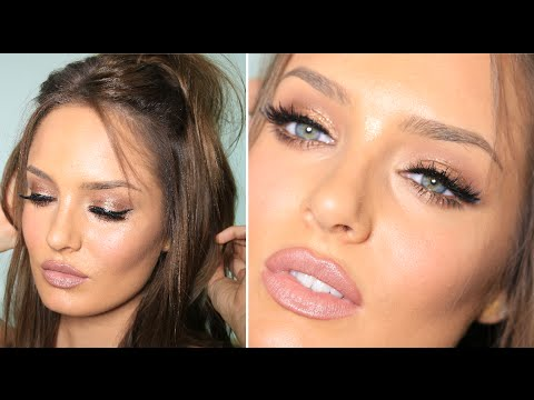 kylie jenner bronze glam with huge lips amp lashes youtube
