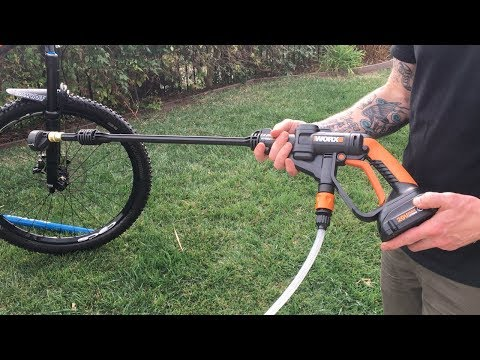 Worx Cordless Pressure Washer Test. Bike Washing Made Easy!