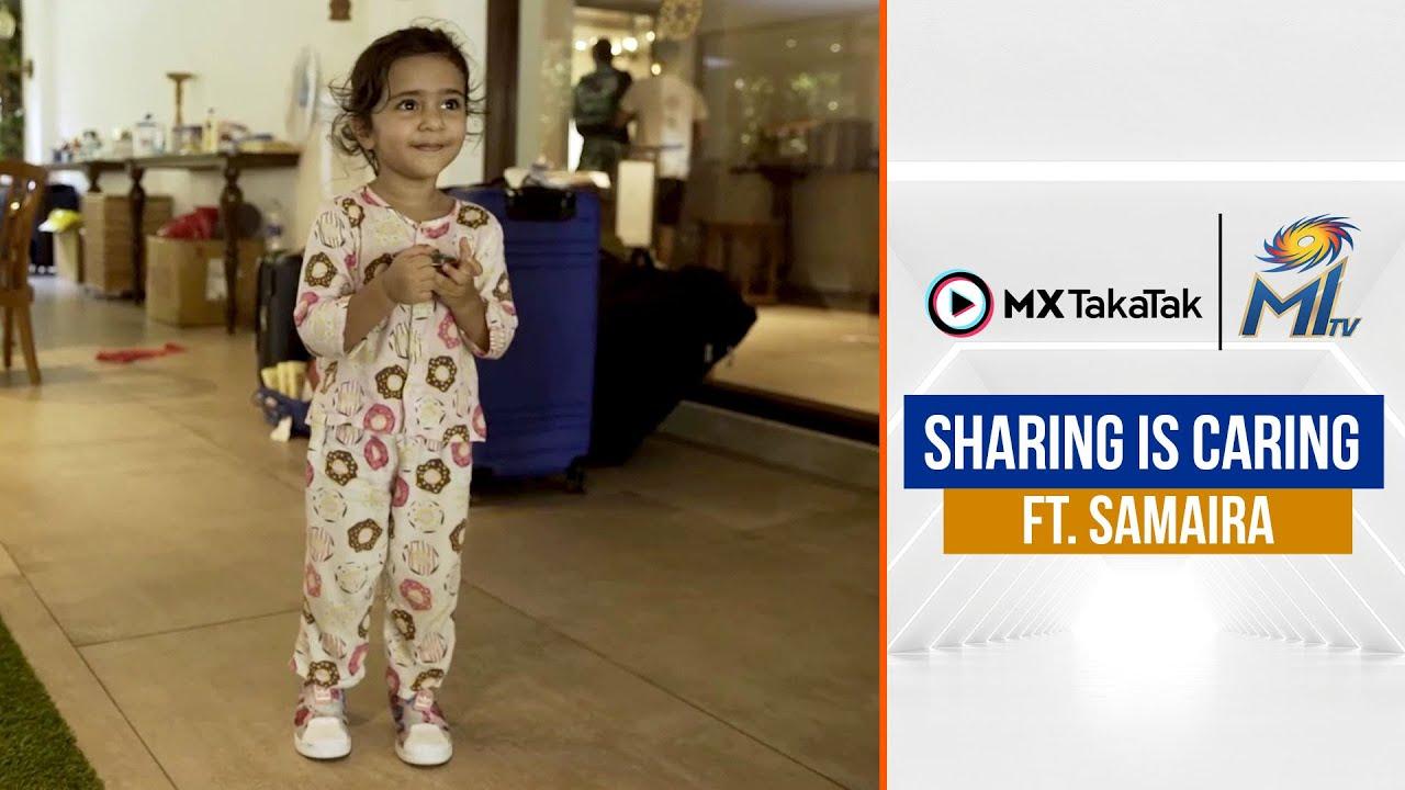 Sharing is Caring, Samaira agrees 😋   शेरिंग इस केरिंग   Mumbai Indians