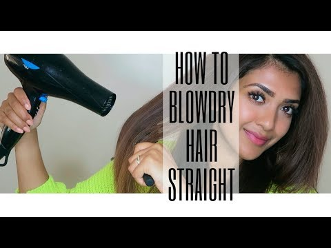 HOW TO BLOWDRY HAIR STRAIGHT | Step by Step | Vithya Hair and Makeup