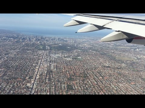 Flying - Landing Into Melbourne's Tullamarine Airport From LAX Onboard A QANTAS A380