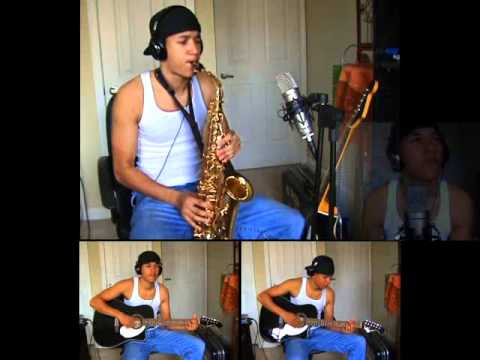 Oasis - Wonderwall - Alto Saxophone and Guitar by charlez360