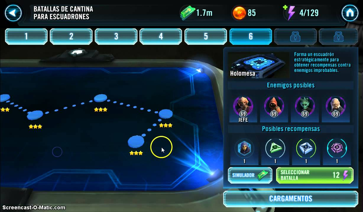 Star Wars Galaxy of Heroes  Cantina Map 6 Drops  Count Dooku or