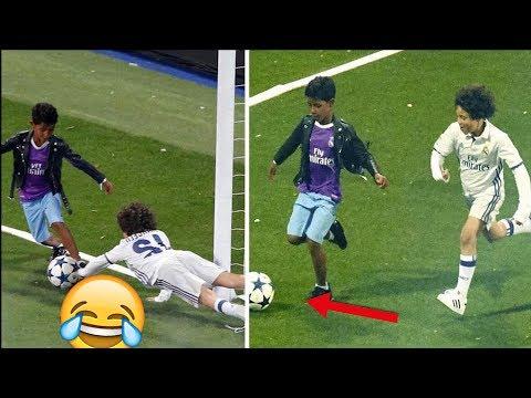 Cristiano Ronaldos Sohn Zerstort Marcelos Sohn Im Dribbling