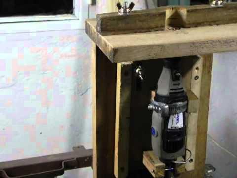 Dremel mesa para fresar hecha en casa router youtube for Mesa para fresadora
