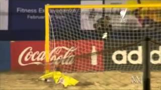 Beach Socceroos Show Grit