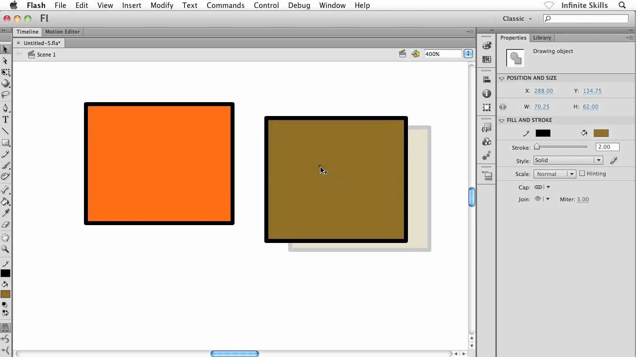 Flash tutorial: getting started with the drawing tools in flash.