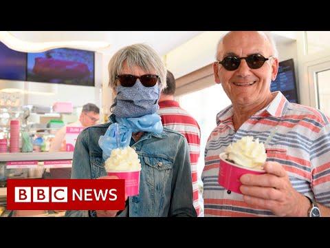 Germany eases coronavirus restrictions on shops - BBC News