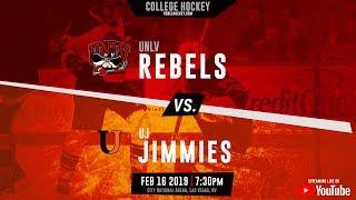 D1 Hockey - UNLV Rebels vs Jamestown Jimmies - 2/16/2019