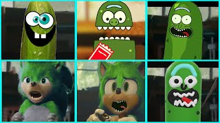 Sonic The Hedgehog Movie - PICKLE RICK Uh Meow All Designs Compilation