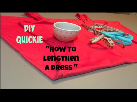 """DIY quickie"""" How to Lengthen a Dress"""""""