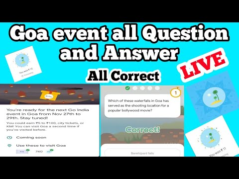 Google pay go india Goa event all Question and answers | go india Goa event | go india Goa quiz