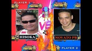 KOF 98 -  NOVATO PB vs  HISOKA `+ JR LEAL vs BILL GAMES( EMULADOR YZKOF/FT20 ONLINE AO VIVO)