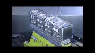Aluminium Cylinder Head CNC Milled from a Block of Billet!