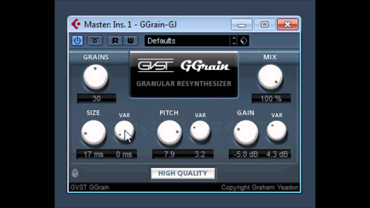 granular resynthesis vst Granulab is a real-time granular synthesizer originally (1998-2018) for windows, now as vst 2 plugin for macos and windows what: granulation means chopping the sound into small overlapping segments and playing back just like the original, or twisted, or another time.