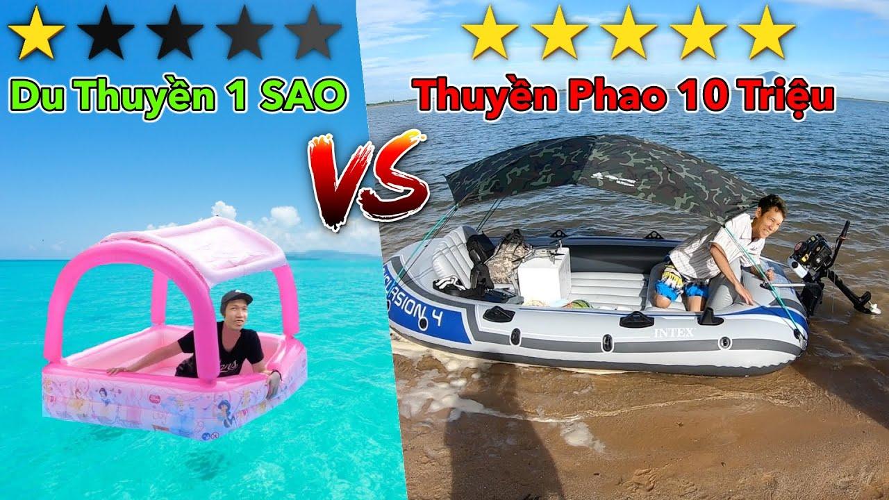 Thử Thách Cắm Trại Trên Thuyền Phao 1 SAO vs 5 SAO | Du Thuyền 1 Triệu vs 10 Triệu