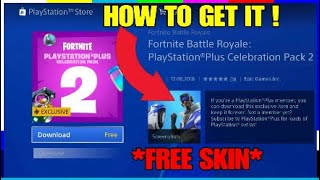 HOW TO GET THE BLUE STRIKER! NEW FORTNITE FREE PS PLUS SKIN! (PS4)