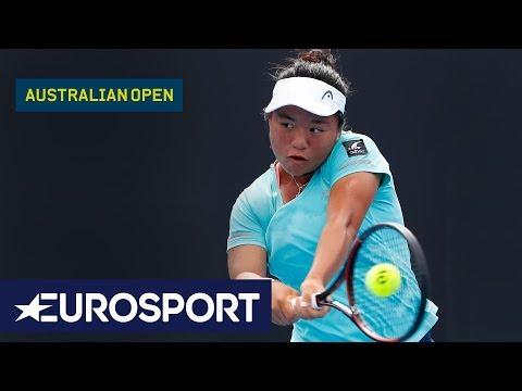 Taipei En Liang v Elisabetta Cocciaretto | Australian Open 2018 Junior Girls Semi Finals | Eurosport