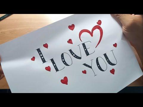 Belajar Menulis I Love You Di Kertas Surat Untuk Pemula Youtube