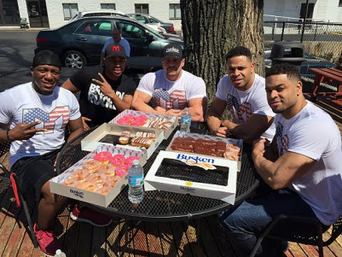 Donut Eating Challenge | Eat Off @hodgetwins