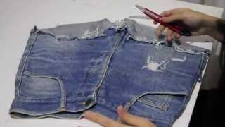 DIY - Como Desfiar Seu Jeans passo a passo / How To Make A Destroyed Jeans step by step