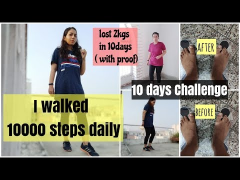 I walked 10000 steps a day at Home | How to lose weight by walking | Azra Khan Fitness