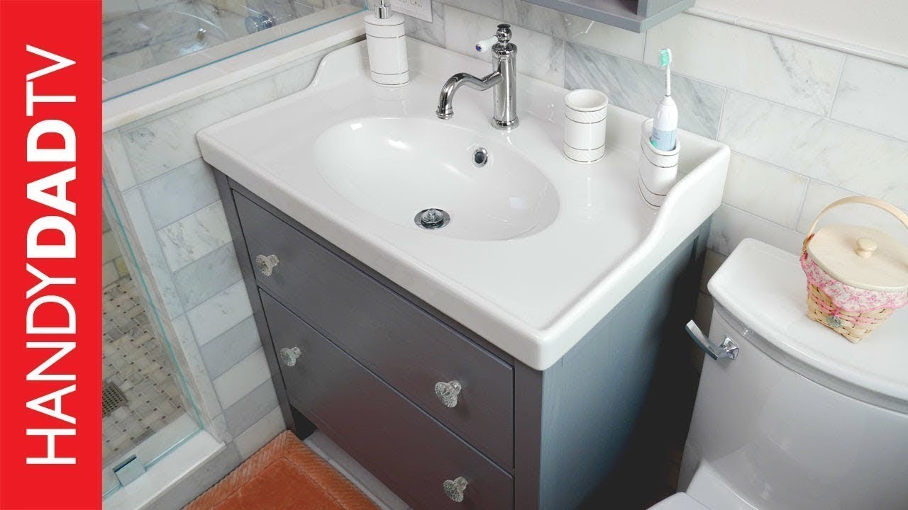 Ikea Hemnes Vanity Installation Master Bath Remodel Part 8 Youtube