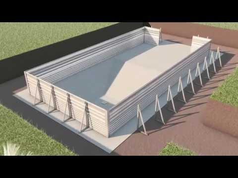 Fasi di costruzione di una piscina interrata i blue youtube - Costruzione piscina interrata ...