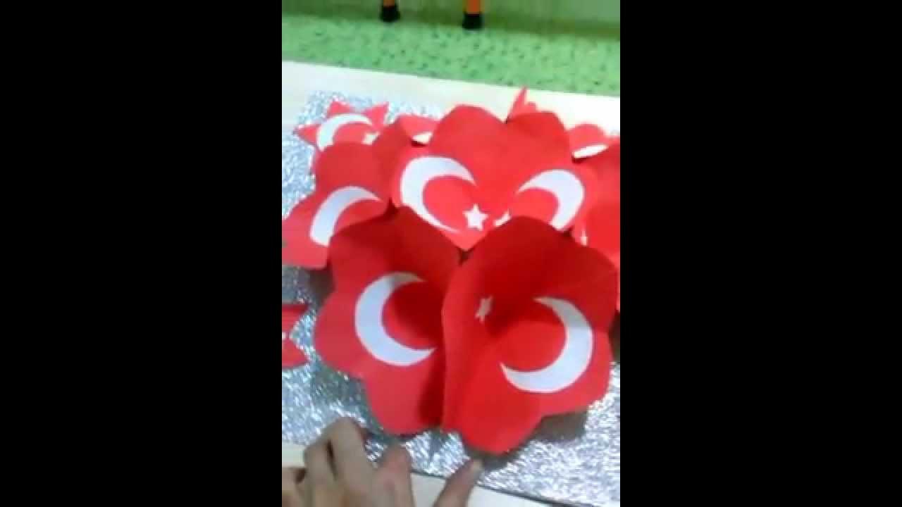 Okul öncesi Bayrak Projesi Youtube