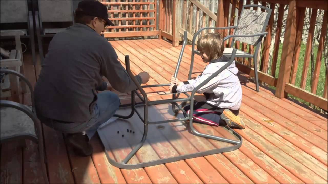 2014 05 04 How to assemble a patio set table YouTube