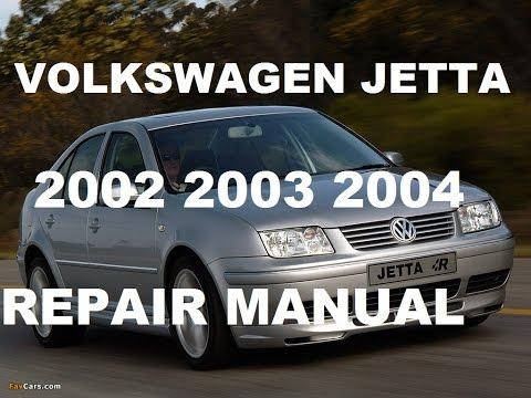 Volkswagen Jetta 2002 2003 2004 repair manual