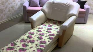 Кресло кровать(Кресло кровать - http://goo.gl/ftV9a Материал - искусственная кожа двух цветов - белый и светло коричневый. Спальн..., 2011-04-02T17:39:31.000Z)