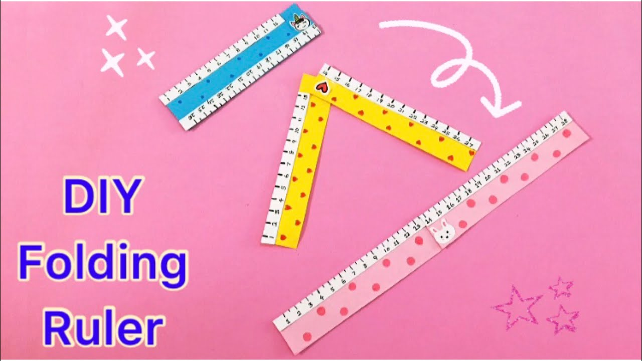 Paper Folding Ruler / How to Make Paper Scale /Back to School /Origami craft with paper /Paper craft