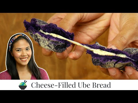 Ube Cheese Pandesal Recipe | How To Make Filipino Ube Pan De Sal