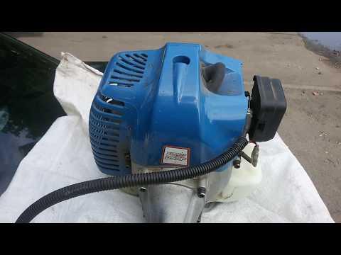 чистка двигателя триммера