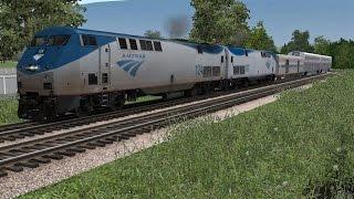 Trainz : Amtrak GE P42DC Review by Flamerailzzz