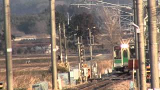 2012.4.1 常磐線日立木駅 上り6:15発原ノ町行き始発701系到着シーン