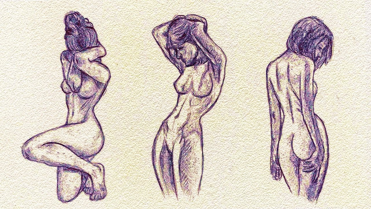 How To Draw] Female Body Sketches - YouTube