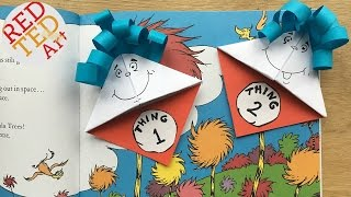 Easy Dr. Seuss Bookmark DIY - Thing 1 Thing 2 DIY - Paper Crafts