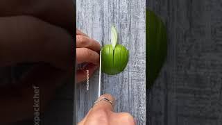 I've Never Seen An Apple Chopped So Skilfully 😍🍏 #Shorts