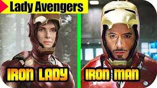 🔴AVENGERS Infinity War If They Were WOMEN 2018, 🔻LADY AVENGERS  CHARACTERS