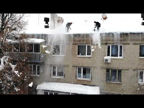 Dji Mavic Air. Cleaning the roof. Чистка крыши зима 2019