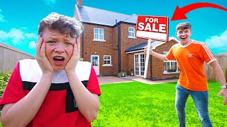 SELLING our New HOUSE *PRANK* on my LITTLE BROTHER!!