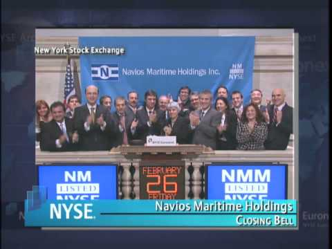 26 February 2010 NYSE Closing Bell Navios Maritime Holdings