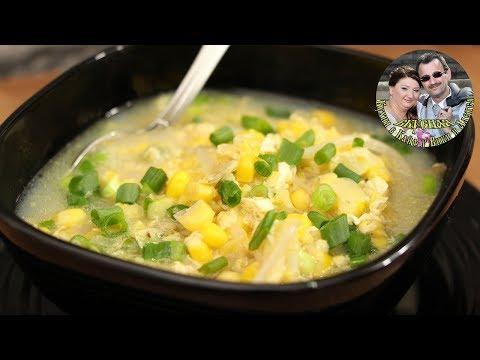 Вопрос: Как приготовить китайский куриный суп с кукурузой?