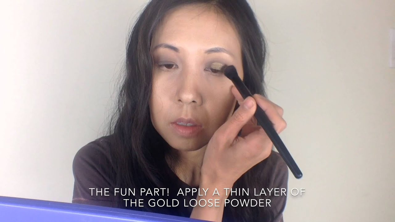 How To Apply Gold Loose Eyeshadow Powder Glitter Grove