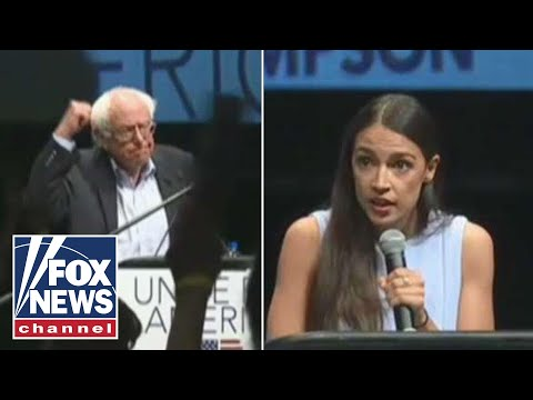 Ocasio-Cortez and Bernie Sanders campaign in Kansas