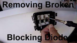 Removing Broken Blocking Diode 12v Solar Panel