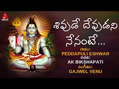 Shivude Devudani Nenante Song  Lord Shiva Devotional Songs  Bhakti Song  Amulya Audios And Videos